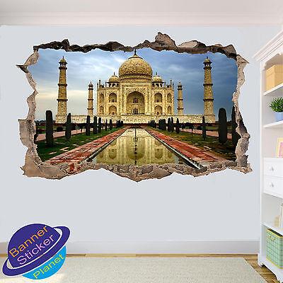 Taj Mahal India Landscape 3D Window Decal Wall Sticker Decor Art Mural J1085
