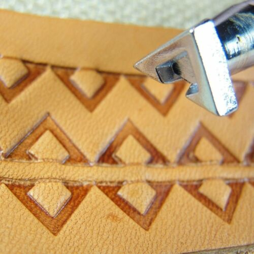 Craft Japan #E292 Geometric Border Stamp Leather Stamping Tool