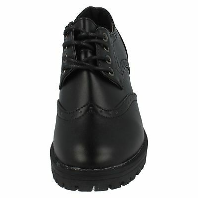 Girls Black Spot On Brogue Lace Up Shoes H3071