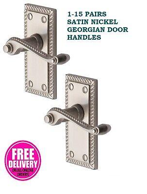 9 Chrome Silver Interior Door Handle Sets GEORGIAN Door Handle ROPE Design D15