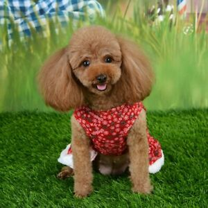 Xmas-Pet-Cat-Dog-Dress-Christmas-Skirt-Red-Costume-Clothes-Coats-Puppy-Festival