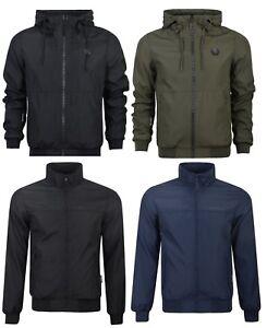 New Mens Crosshatch Lightweight Windbreaker Showerproof Hooded Jacket Coat Rain Gesundheit FöRdern Und Krankheiten Heilen Herrenmode Jacken & Mäntel