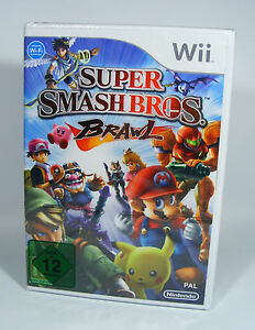 SUPER-SMASH-BROS-BRAWL-fuer-Nintendo-Wii-Spiel-NEU-Folie-EU-Version-brothers-ssbb