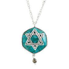 "Silpada 'Mazel Tov' Multi-Stone Star of David Pendant in Silver, 18"" + 2"""