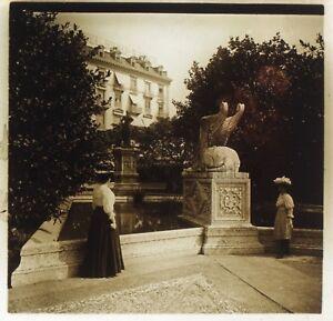 Geneve Monumento Suisse Placca Da Lente Stereo Positivo Vintage
