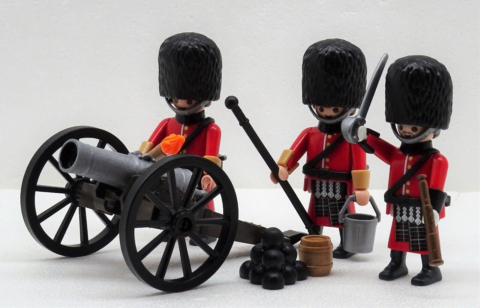 Royal Guard Highlander ARTIGLIERIA Playmobil PER SOLDATO Kanone BEARSKIN CAP