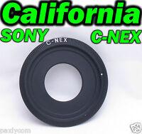 C Mount To Nex Lens Sony Nex3 Nex-5n Nex-c3 Nex5 Nex7 Nex-vg10 20 Adapter E Ring