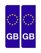 2 EURO GB BADGES NUMBER PLATE SIGNS STICKERS DECALS VINYLS x2