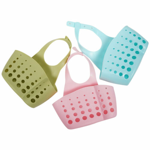 Kitchen Sink Drain Hanging Basket Bag Bath Portable Sink Storage Accessories New