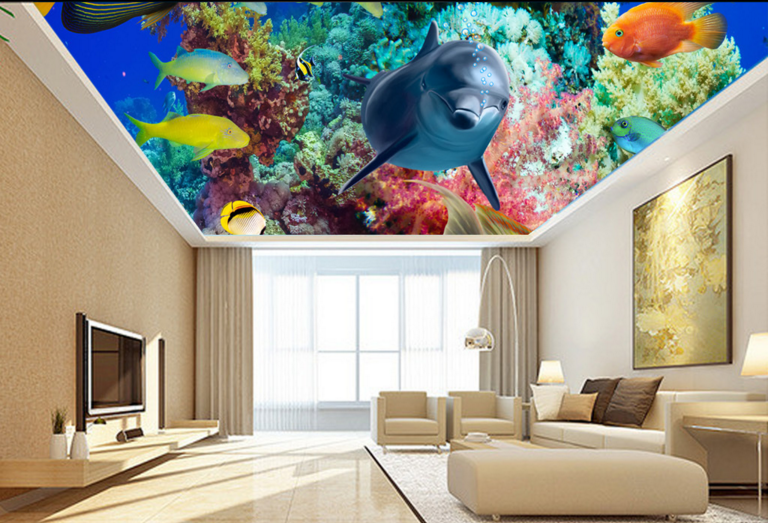 3D Sea Animals 52 Ceiling WallPaper Murals Wall Print Decal Deco AJ WALLPAPER UK