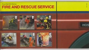 GB 2009 FIRE AND RESCUE PRESENTATION PACK NO.429 SG: 2958-2963 MINT STAMP SET
