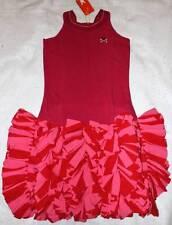 NWT No Added Sugar Sangria Pink Swing Out Knit Ruffle Tank Dress 9 10 Yrs.