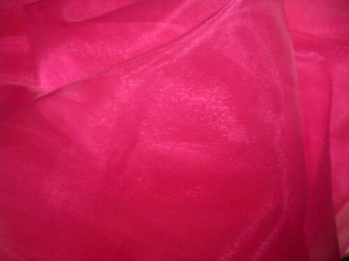 ORGANZA in PINK  glänzend  Store Stoff Stoffe