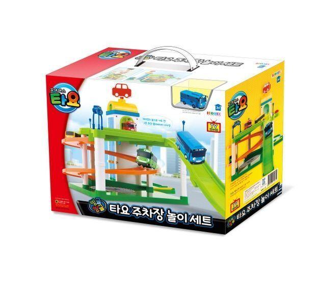 TAYO, liten buss Parkering, Garage spela leksak Set och Mini Tayo buss