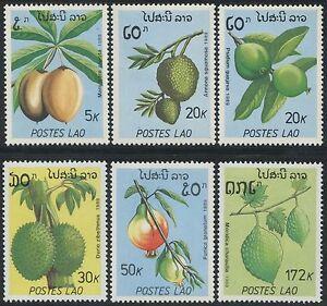 LAOS-N-931-936-Fruits-TB-1989-MNH