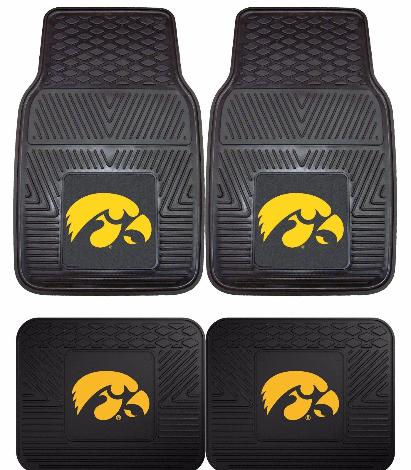 FANMATS NCAA University of Iowa Hawkeyes Vinyl Cargo Mat