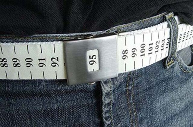 Creative Losing Weight Watch Belt Slimming Measuring Waist Circumference Unisex