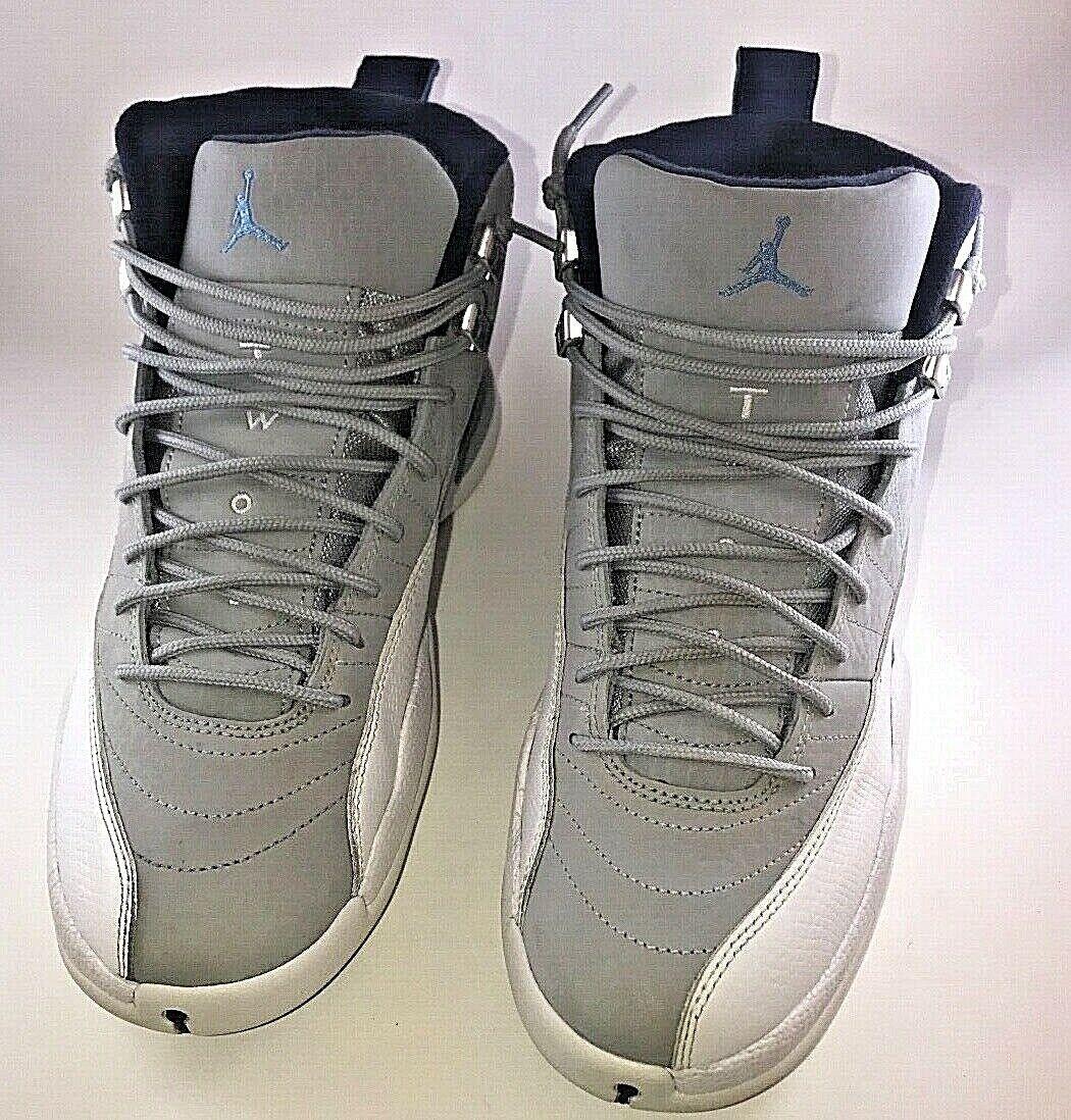 Nike Air Jordan 12 XII Wolf Grey University bluee UNC 130690-007 Size 8.5