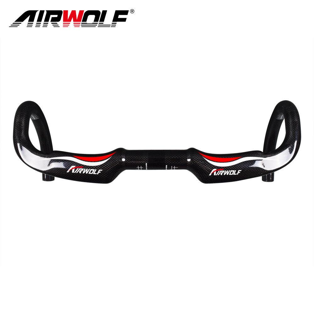 Airwolf carbon road bike handlbar  racing bicycle bend bar 31.8400 420 440mm 3K  discount sale