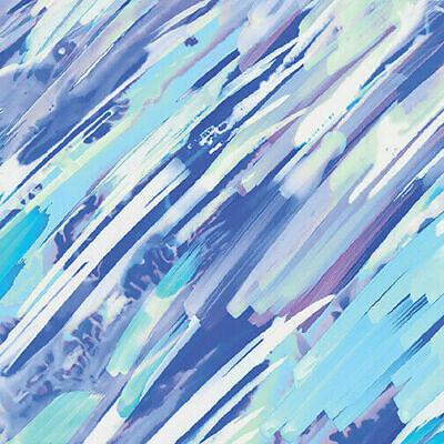 Quilt Fabric Calypso Brush Strokes Blue Aqua Kanvas//Benartex 8837-84 By The Yard