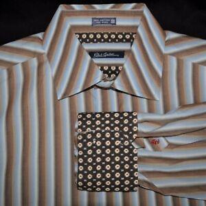 Robert-Graham-Flip-Cuff-Mens-2XL-Designer-Striped-Long-Sleeve-Dress-Shirt