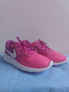 Nike-Tanjun-Print-GS-AV8858-500-Hyper-Violet-Pink-White-Youth-Girl-039-s-Shoes-6Y