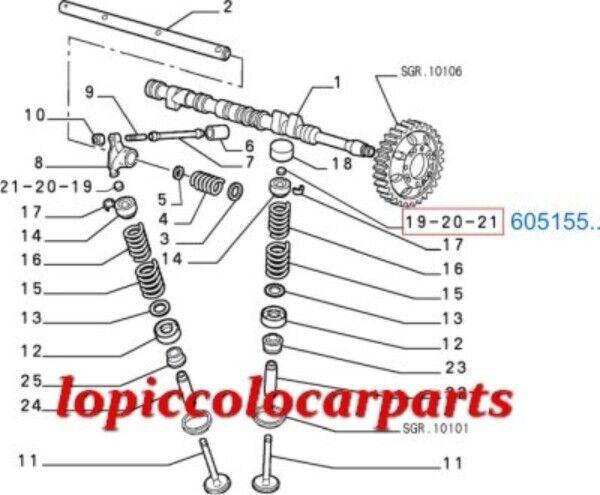 60515809 Spes Reg Punterie sp.3,500 Alfa Romeo + da 1600cc a 2000 + Romeo 2500 V6 EX T.S aa821c