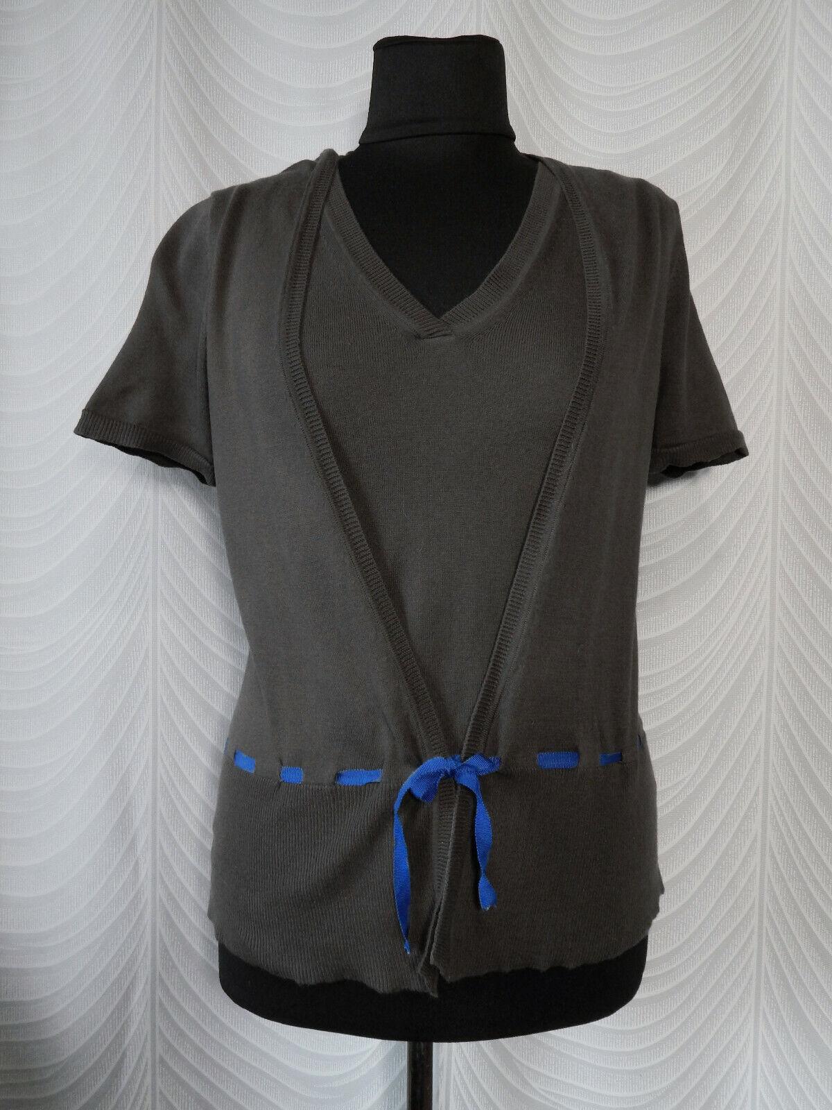 Toast  Short Sleeved Pima Cotton Brown Twinset Twinset Twinset Cardigan  Short Sleeve b5a22b