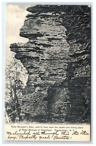 Postcard-Natty-Bumppo-039-s-Cave-Cooperstown-NY-1906-C7