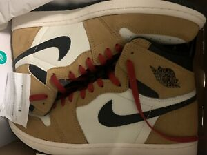 2018-Air-Jordan-1-OG-High-ROTY-Size-13-HARVEST-GOLD-BLACK-SAIL-555088-700