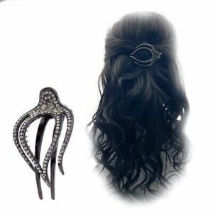 Haarschmuck-Haarklammer-Strass-Hair-Jewelry-Haarkamm-Schmuck-Strass-Schwarz