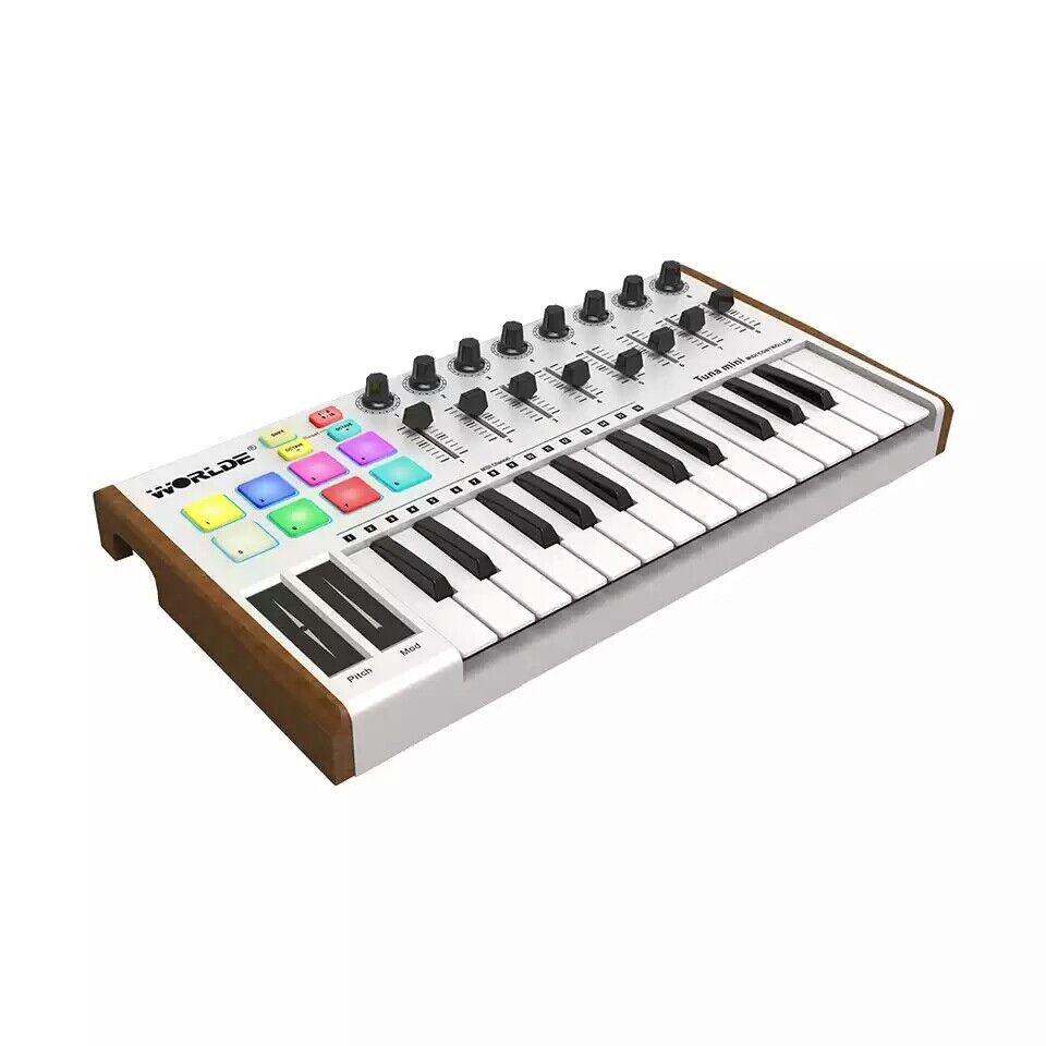 nuevo      Estamos atún Mini Ultra Portátil 25-Key USB controlador de teclado MIDI  ventas de salida