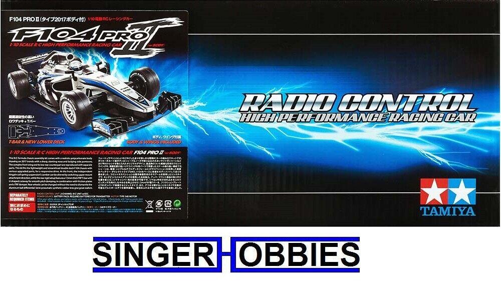 Tamiya 1 10 RC F104 PRO II Radio Control F-1 Unassemb Kit (w  Body) TAM58652 HRP