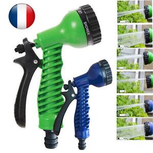 FR-Ajustable-Tuyau-d-039-arrosage-Arroseur-Ajutage-Pistolet-de-pulverisation-d-039-eau