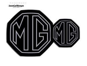 MG-ZS-ZR-MK2-Badge-Inserts-Set-Fits-59mm-95mm-Emblems-Black-Silver-Stroke