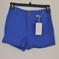 So Juniors Shorts $3 Cobalt Blue High Waist Flat Front Chino Shorts Size 0