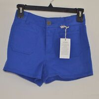 So Juniors Shorts Cobalt Blue High Waist Flat Size 0 Front Chino Shorts