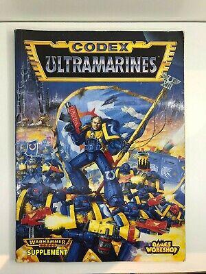 Colto Ultramarine Codex Space Marine Warhammer 40k Supplemento 1995-mostra Il Titolo Originale Per Soddisfare La Convenienza Delle Persone