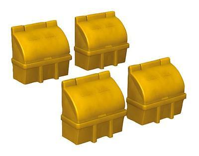 Bachmann 44-546 - 4 X Model Plastic Grit Salt Boxes 00 Gauge - 1st Class Post Grande Assortimento