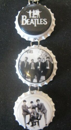 "1"" Bottle Cap Image Inside RView Mirror Handcrafted Gift Idea Beatles"