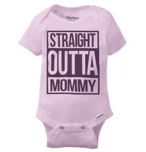 8f335999b Straight Outta Mommy Compton Gerber Onesie   Hip Hop Gangster Cute ...