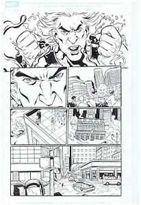 HYDRO-MAN-SPIDER-MAN-ORIGINAL-PUBLISHED-ART-PAGE-M-A-SPIDER-MAN-32-PAGE-11