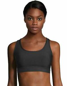 Hanes Women/'s Sports Bra Racerback Compression Activewear Cool Comfort Running