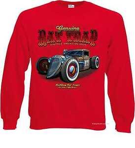 Sweatshirt Jacke mit einem Hot Rod-,US Car-/& `50 Stylemotiv Modell Rat Rod