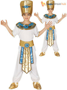 Details About Boys Egyptian Pharaoh Costume Child King Fancy Dress Historical Book Week Outfit