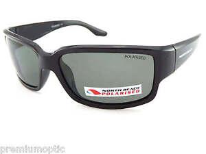 North-Beach-Polarizados-Pamano-Gafas-De-Sol-Negro-Pulido-Verde-Oscuro-Lentes