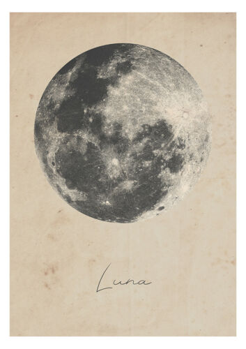 Moon Luna Print Space poster Collectable Art NASA Astronomy Wall Art A3 A4 A5