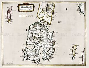 MAP-ANTIQUE-1654-SCOTLAND-BLAEU-ISLAY-HISTORIC-LARGE-REPRO-POSTER-PRINT-PAM0127