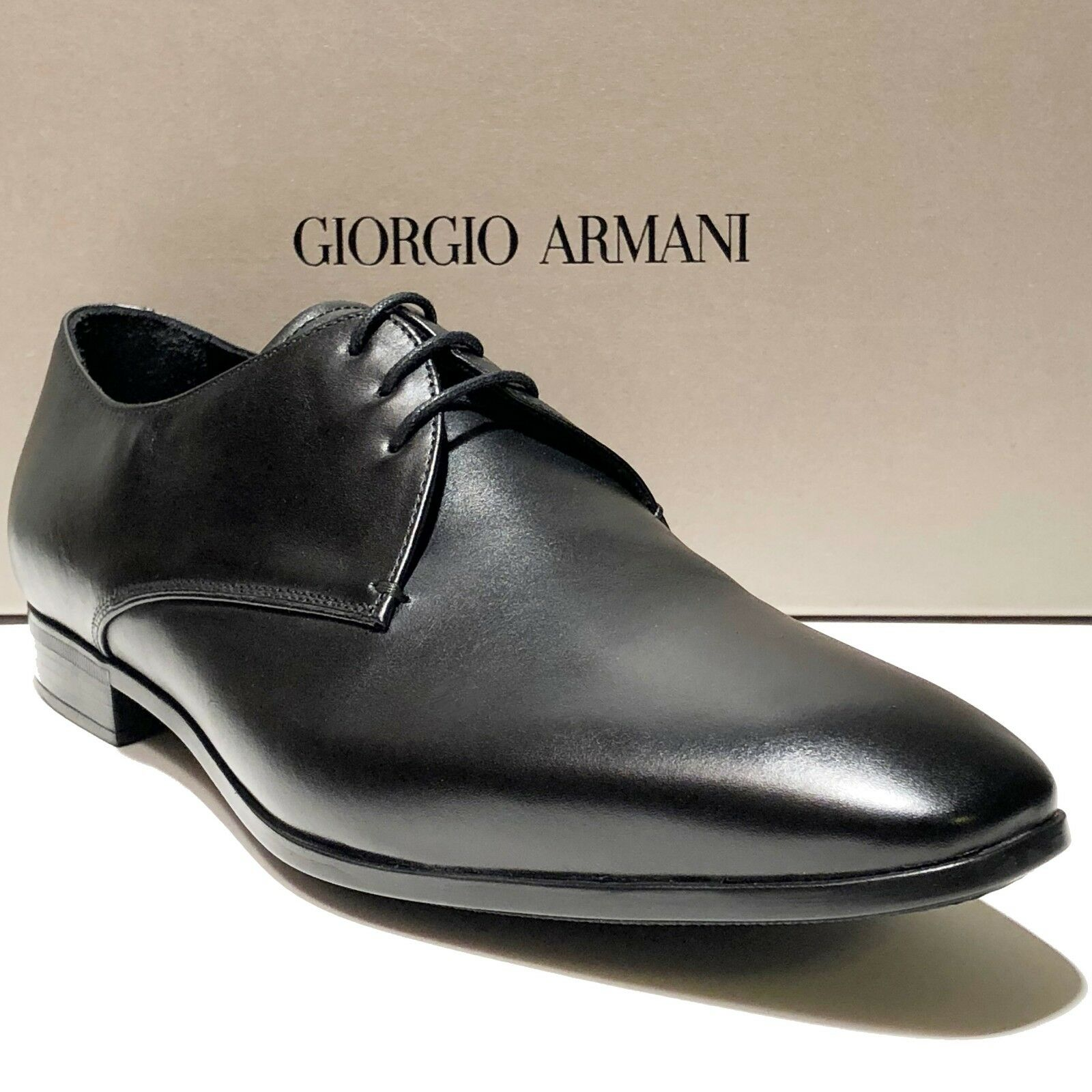 Giorgio Armani ITALY nero 9.5 Leather Formal Dress Oxford Men's scarpe Tuxedo