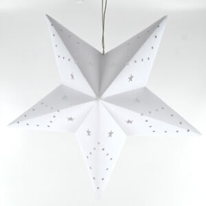 LED-Weihnachtsstern-Batteriebetrieb-Dekostern-Fensterstern-Stern-weiss-30-cm